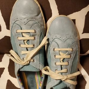 BORN Canvas and Leather Sneakers